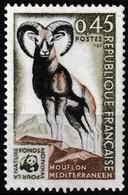 Timbre-poste Gommé Neuf** - Fonds Mondial Pour La Nature Mouflon Méditerranéen - N° 1613 (Yvert) - France 1969 - France