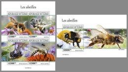 GUINEA REP. 2019 MNH Bees Bienen Abeilles M/S+S/S - OFFICIAL ISSUE - DH2006 - Abeilles