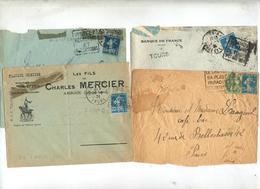 4 Lettre Flamme Daguin - Marcophilie (Lettres)