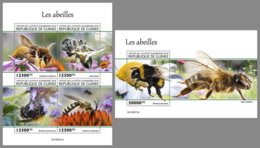 GUINEA REP. 2019 MNH Bees Bienen Abeilles M/S+S/S - IMPERFORATED - DH2006 - Abeilles