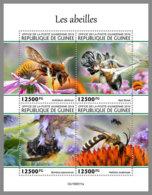 GUINEA REP. 2019 MNH Bees Bienen Abeilles M/S - IMPERFORATED - DH2006 - Abeilles