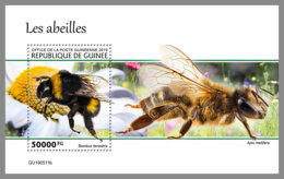 GUINEA REP. 2019 MNH Bees Bienen Abeilles S/S - IMPERFORATED - DH2006 - Abeilles
