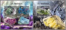 NIGER 2019 MNH Minerals Mineralien Mineraux M/S+S/S - OFFICIAL ISSUE - DH2006 - Minéraux