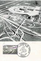 TP N° 1787 Seul Sur Carte Postale 1er Jour De L'Aéroport Charles De Gaulle - 1961-....