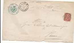 1889 ELICE TERAMO CERCHIO GRANDE + NUMERALE A SBARRE N° 4386 RARO - 1878-00 Humbert I