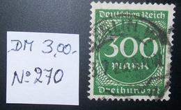 N°1459H BRIEFMARKE DEUTSCHES REICH GESTEMPELT GEPRUFT - Duitsland