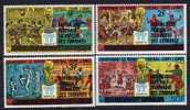 Comores N° 256  / 59 XX Coupe Du Monde De Football Les 4 Valeurs Surchargées Sans Charnière, TB - Comores (1975-...)