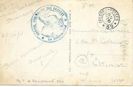 88-cachet Hôpital Temp.des Sources à Bussang Sur CP En 1915 + Cachet T. Et P. N°39 - Poststempel (Briefe)
