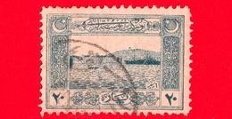 TURCHIA - Usato - 1922 - Unificazione Nazionale Di Tutti I Turchi - Porto Di Smirne (Izmir) - 20 - 1920-21 Anatolië