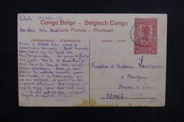 CONGO BELGE - Entier Postal Illustré ( Ramassage De Bois Pour Les Vapeurs) De Kabalo Pour La France En 1919 - L 53450 - Entiers Postaux