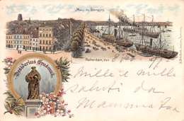 DESIDERIUS ERASMUS - ROTTERDAM  - POSTED IN OCTOBER 1897 ~ A 123 YEAR OLD POSTCARD #21408 - Rotterdam