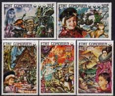 Comores N°145 / 49 XX  Contes Pour Enfants Les 5 Val. Sans Charnière TB - Comores (1975-...)