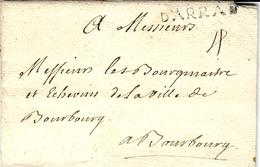 1747 - Lettre De  D'ARRAS ( Pas De Calais ) Lenain N°4 A   Taxe 4 Sols Pour Bourbourg - Storia Postale