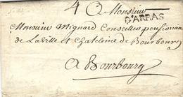 1741 - Lettre De  D'ARRAS ( Pas De Calais ) Lenain N° 3  Taxe 4 Sols Pour Bourbourg - Poststempel (Briefe)