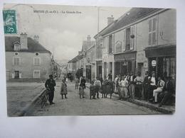 CPA 91 ESSONNE - MAISSE : La Grande Rue - Scène Animée - Andere Gemeenten