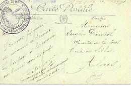 88-cachet Hôpital Temp. N°30-Notre-Dame à Epinal Sur CP En 1917-cachet Répété Au Verso - Poststempel (Briefe)
