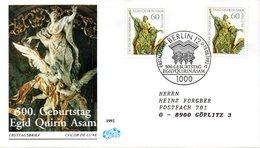 "BRD Schmuck-FDC ""300.Geburtstag Von Egid Quirin Asam"" Mi. 2x 1624 ESSt 13.8.1992 BERLIN 12 - [7] Federal Republic"
