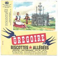 BUVARD - BISCOTTES GREGOIRE - Le Calvaire De PLOUGASTEL DAOULAS - Biscottes