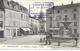 88-cachet Hôpital Aux.de Remiremont ( H A N°101) Sur Belle CP En 1915 - Poststempel (Briefe)