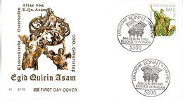"BRD Schmuck-FDC ""300.Geburtstag Von Egid Quirin Asam"" Mi. 1624 ESSt 13.8.1992 BONN 1 - [7] Federal Republic"