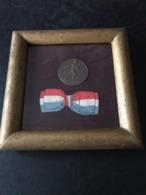 """Cadre Souvenir Du Comice Agricole De NEVERS 58 - Médaille En Bronze """"semeuse"""" Signée J LAGRANGE - DECIZE 1911 - NIEVRE - Autres Collections"""