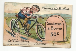 CPA - Lisieux -charmante Ballade -carte à Systeme Avec Son Dépliant De 10 Vues Vélo - Lisieux