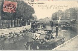 CPA Paris Le Pont Saint-Michel Pris Du Quai Des Grands Augustins - Arrondissement: 06