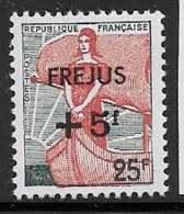 Maury 1229 - 5 F /  25 F Sinistrés De Fréjus - * - 1959-60 Marianne (am Bug)