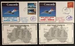 Premier Vol - Concorde - British Airways - Bahrain - Sydney - 1985 - Concorde
