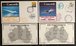 Premier Vol - Concorde - British Airways - Colombo - Sydney - 1985 - Concorde