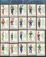 CARNAVAL HOLLAND (1e SERIE-A) BERGEN OP ZOOM KARNAVAL KARNEVAL Dutch Matchbox Labels DE KLOOF - Luciferdozen - Etiketten
