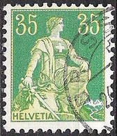 Schweiz Suisse Helvetia 1933: Zu 111z Mi 105z Yv 118 (geriffelt-grillé) Mit O BRISSAGO 26.?.? (Zumstein CHF 23.00) - Gebraucht