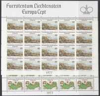 Europa Cept 1977 Liechtenstein 2v 2 Sheetlets ** Mnh (F8029) Promotion - 1977