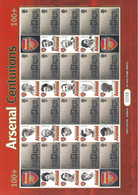 Gran Bretagna, 2003 Calcio, Centurioni Della Squadra Dell'Arsenal, Smiler,  Perfetto - Personalisierte Briefmarken