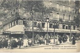 CPA Paris Au Centre Du Quartier Latin Café D'Harcourt - Arrondissement: 06