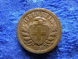SWITZERLAND 2 RAPPEN 1850, KM4.1 Cleaned - Suisse