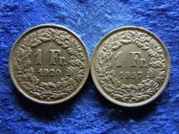SWITZERLAND 1 FRANC 1920, 1957, KM24 - Zwitserland