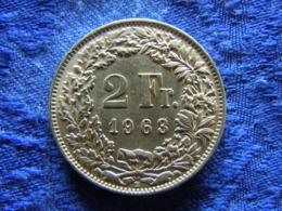 SWITZERLAND 2 FRANCS 1963, KM24 - Suisse