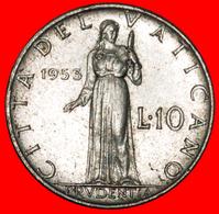 · PRUDENTIA (1951-1958): VATICAN ★ 10 LIRE 1953! Pius XII (1939-1958) LOW START ★ NO RESERVE! - Vaticano