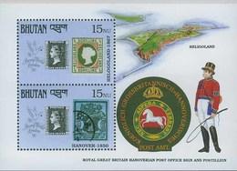 Bhutan 1990, Lighthouse B1312 Helgoland Scott 910a, MNH Michel BL292 - Leuchttürme