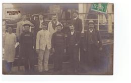 Bateau Cpa Carte Photo Photographie Atmah Steamer Yacht Du Baron De Rothschild Marin Marins Equipage 1908 - Bateaux