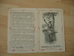 Calendrier 1903 Vin Cribier  Tonique Reconstituant Recommande Pour Enfant - Calendriers