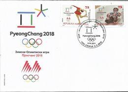 MK 2018-825-6 OLY PJONGCHANG , MACEDONIA, FDC - Inverno 2018 : Pyeongchang