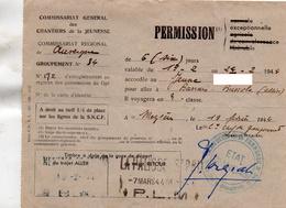 """Document-    """"  Commissariat Général Des Chantiers De La Jeunesse """"Groupement N° 34- - Cachet: Etat Français-- - Marcophilie (Lettres)"""