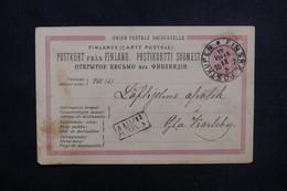"FINLANDE - Oblitération "" Postkupen - Finska "" Sur Entier Postal En 1887 - L 53480 - Finland"