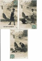CPA-Lot De 5 Cartes Postales-France-Jeux Et Disputes De Gamins-1909- VM12968 - Szenen & Landschaften