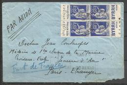 France - Type Paix N°365b Bloc De 4 Du Carnet C10 - Publicité Poste Aérienne - Byrrh - Reclame