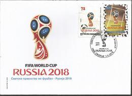 MK 2018-845-6 FIFA CUP RUSSIA-2018, NORD MACEDONIA, FDC - Macédoine