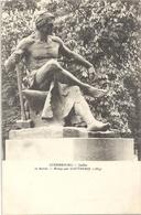 CPA Paris Jardin Du Luxembourg Le Travail Bronze Par Gautherin - Arrondissement: 06
