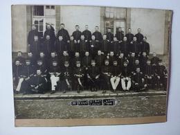 VIEILLE PHOTO SUR CARTON DU 36e REGIMENT D'ARTILLERIE 11e BATie A CHEVAL, CLASSE 1906, VOIR SCAN - Guerre, Militaire